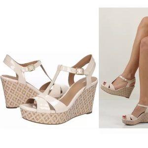 Clark's Amelia Roma Wedge Nude Sandal Size 8.5